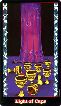 Eight of Bowls Tarot Card - Vampire Tarot Deck