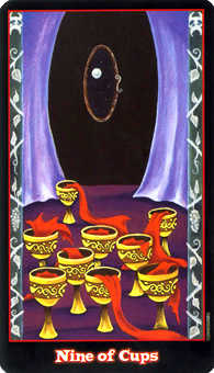 Nine of Cups Tarot Card - Vampire Tarot Deck