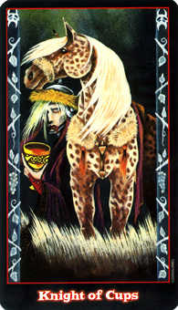 Knight of Cauldrons Tarot Card - Vampire Tarot Deck