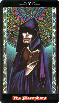 The Hierophant Tarot Card - Vampire Tarot Deck