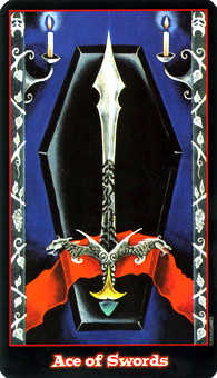 Ace of Swords Tarot Card - Vampire Tarot Deck