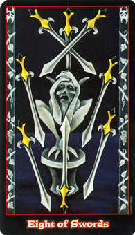 Eight of Swords Tarot Card - Vampire Tarot Deck