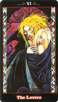 The Lovers Tarot Card - Vampire Tarot Deck