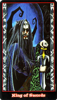 Roi of Swords Tarot Card - Vampire Tarot Deck