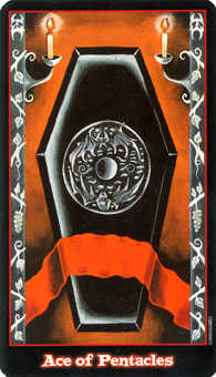 Ace of Coins Tarot Card - Vampire Tarot Deck