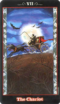 The Chariot Tarot Card - Vampire Tarot Deck