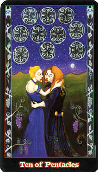 Ten of Coins Tarot Card - Vampire Tarot Deck
