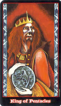 King of Discs Tarot Card - Vampire Tarot Deck