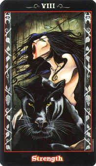 Strength Tarot Card - Vampire Tarot Deck