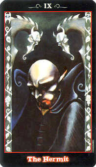 The Hermit Tarot Card - Vampire Tarot Deck