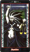 Justice Tarot card in Vampire Tarot Tarot deck