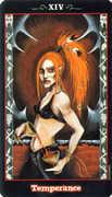 Temperance Tarot card in Vampire Tarot deck