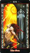 The Sun Tarot card in Vampire Tarot Tarot deck