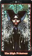 The High Priestess Tarot card in Vampire Tarot deck