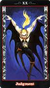 Judgement Tarot card in Vampire Tarot deck