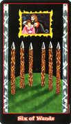 Six of Wands Tarot card in Vampire Tarot deck