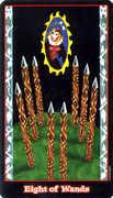 Eight of Wands Tarot card in Vampire Tarot deck