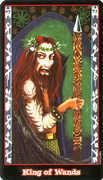 King of Wands Tarot card in Vampire Tarot Tarot deck