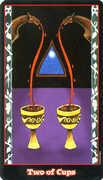 Two of Cups Tarot card in Vampire Tarot Tarot deck