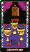 Three of Cups Tarot card in Vampire Tarot Tarot deck
