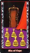 Six of Cups Tarot card in Vampire Tarot deck