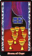 Seven of Cups Tarot card in Vampire Tarot Tarot deck