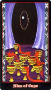 Nine of Cups Tarot card in Vampire Tarot Tarot deck
