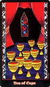 Ten of Cups Tarot card in Vampire Tarot deck