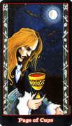 Page of Cups Tarot card in Vampire Tarot deck