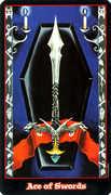 Ace of Swords Tarot card in Vampire Tarot deck