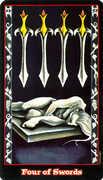 Four of Swords Tarot card in Vampire Tarot deck