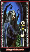 King of Swords Tarot card in Vampire Tarot Tarot deck