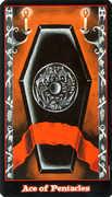 Ace of Coins Tarot card in Vampire Tarot Tarot deck