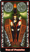 Two of Coins Tarot card in Vampire Tarot Tarot deck