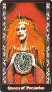 Queen of Coins Tarot card in Vampire Tarot deck