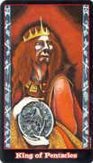 King of Coins Tarot card in Vampire Tarot deck