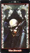 The Hermit Tarot card in Vampire Tarot deck
