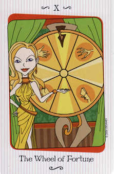 The Wheel of Fortune Tarot Card - Vanessa Tarot Deck