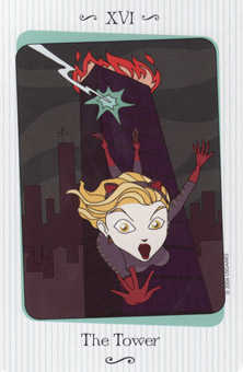 The Falling Tower Tarot Card - Vanessa Tarot Deck