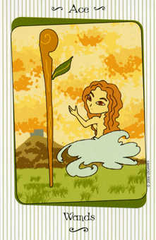 Ace of Clubs Tarot Card - Vanessa Tarot Deck