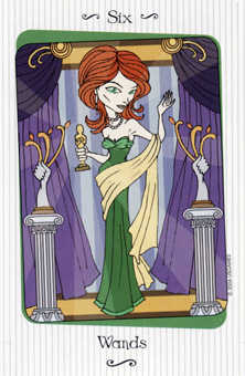 Six of Pipes Tarot Card - Vanessa Tarot Deck