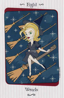 Eight of Staves Tarot Card - Vanessa Tarot Deck