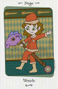 Page of Clubs Tarot Card - Vanessa Tarot Deck
