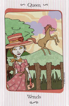 Queen of Batons Tarot Card - Vanessa Tarot Deck