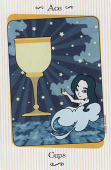 Ace of Ghosts Tarot Card - Vanessa Tarot Deck