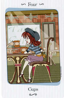 Four of Water Tarot Card - Vanessa Tarot Deck