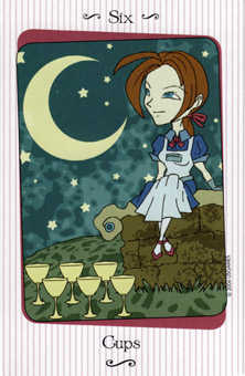 Six of Ghosts Tarot Card - Vanessa Tarot Deck