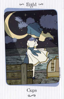 Eight of Ghosts Tarot Card - Vanessa Tarot Deck