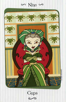 Nine of Bowls Tarot Card - Vanessa Tarot Deck