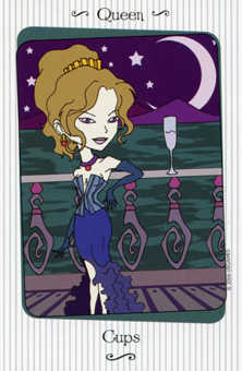Queen of Cauldrons Tarot Card - Vanessa Tarot Deck